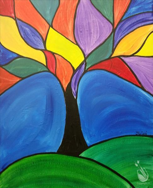 Stained Glass Tree for Kids