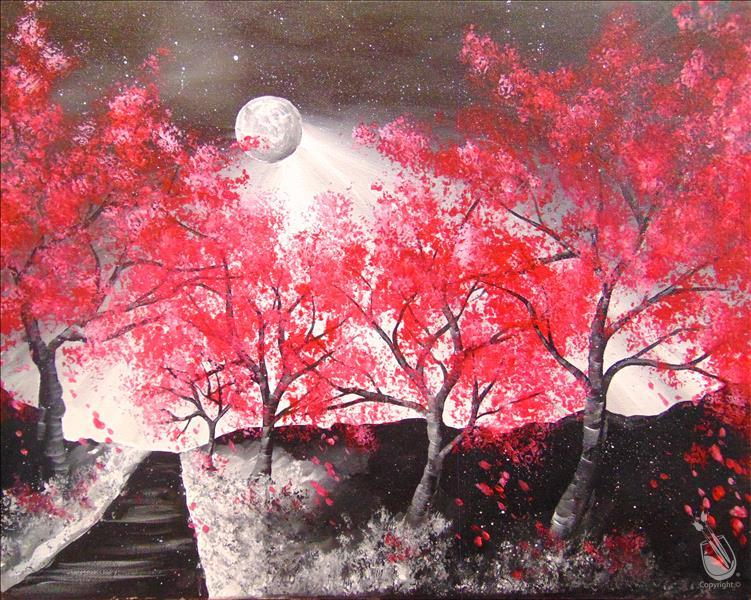 How to Paint Crimson Glow | Canvas or Pallet