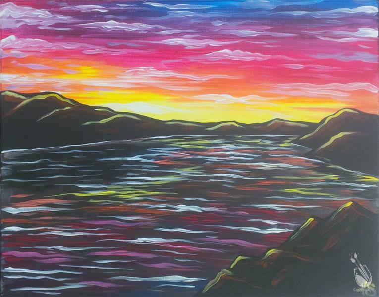 Colorful Reservoir Sunset