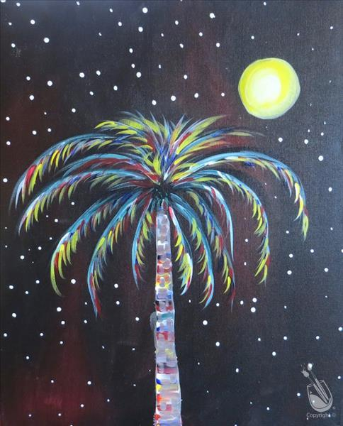 How to Paint Starry Night Palm