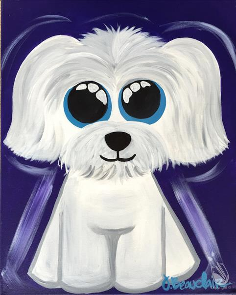 How to Paint Puppy - Maltese