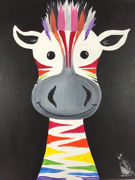 RAINBOW ZEBRA!  (Family Day - ALL AGES!)