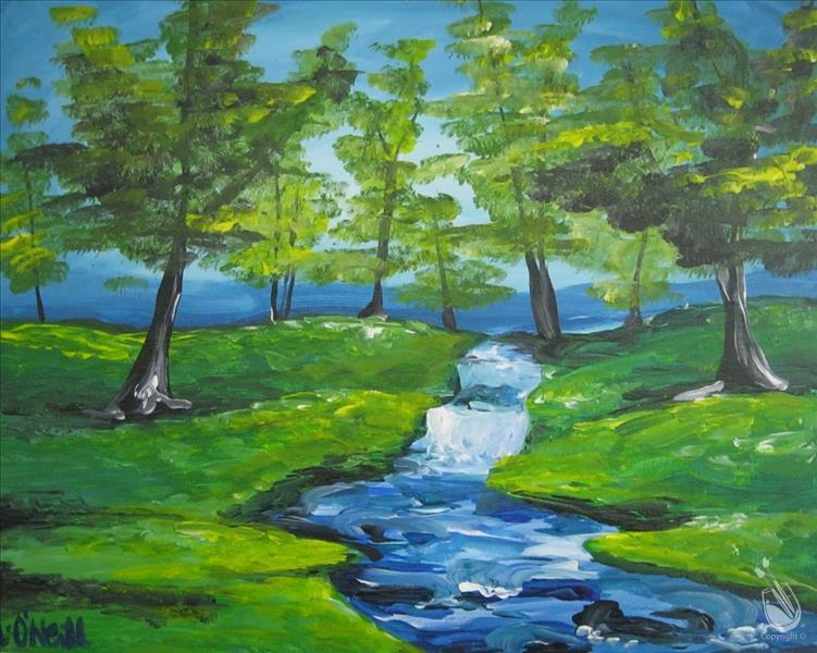 How to Paint PUBLIC: Bubbling Brook  **New Art**