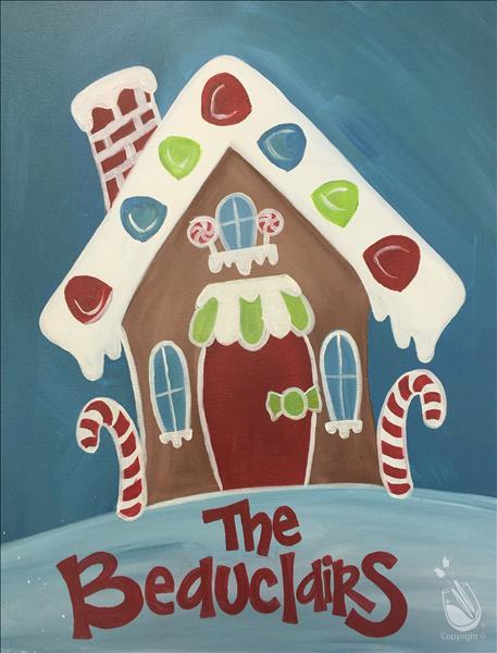 How to Paint Personalize Your Gingerbread House