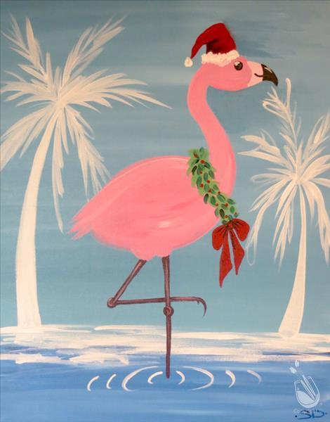 Miami Christmas Flamingo - Santa