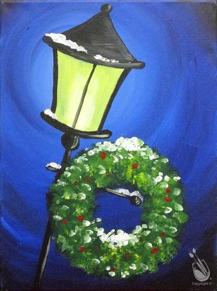 Glowing Lantern with Wreath