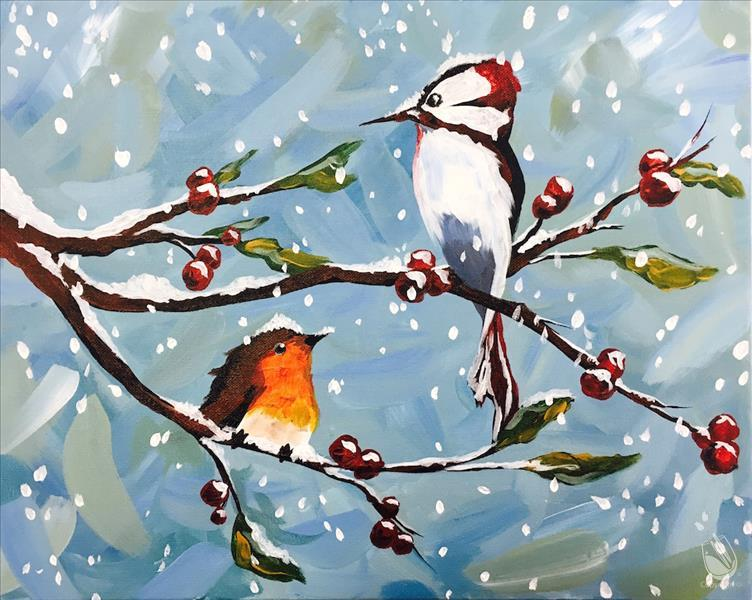 Winter Birds VIRTUAL Painting Party