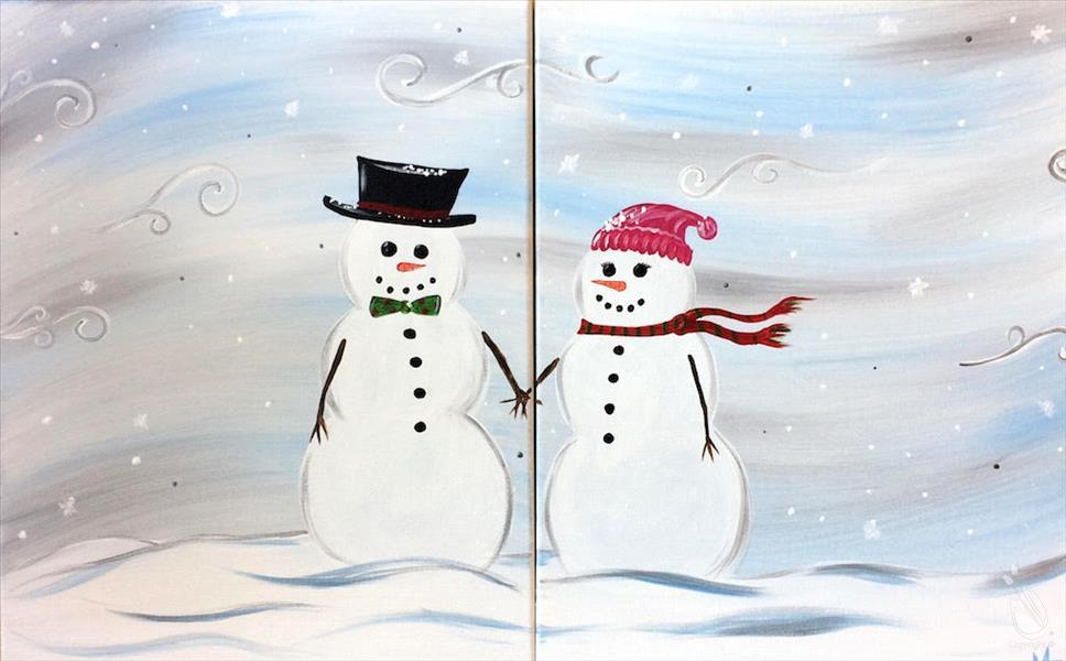 Mr. and Mrs. Frosty - Set