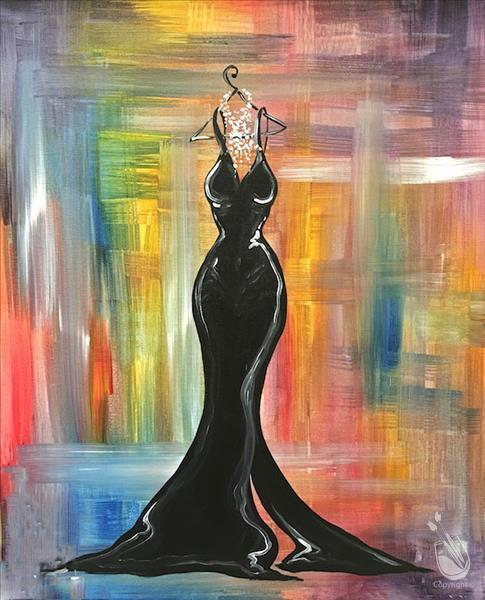 How to Paint Black Tie Fashion Dress