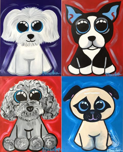 How to Paint FAMILY FUN! Pick Your Favorite Puppy (All Ages)