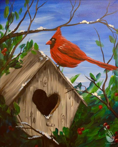 Cardinal Cottage Painting Party