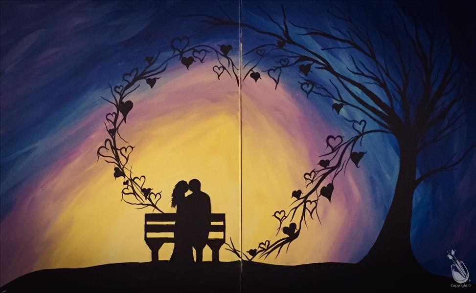 How to Paint Valentine's Date Night:Hearts in Love