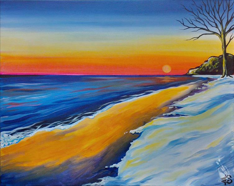 How to Paint Lake Huron Sunrise