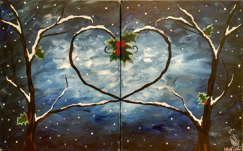 How to Paint Winter Love Trees - Set or Single!