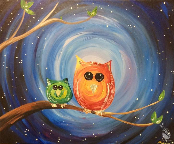 Painterly Owls