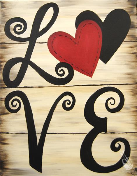 How to Paint Valentine's Day - Shabby Chic Love