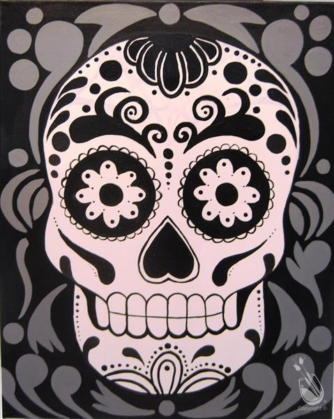 Retro Sugar Skull - 3 HR Art!