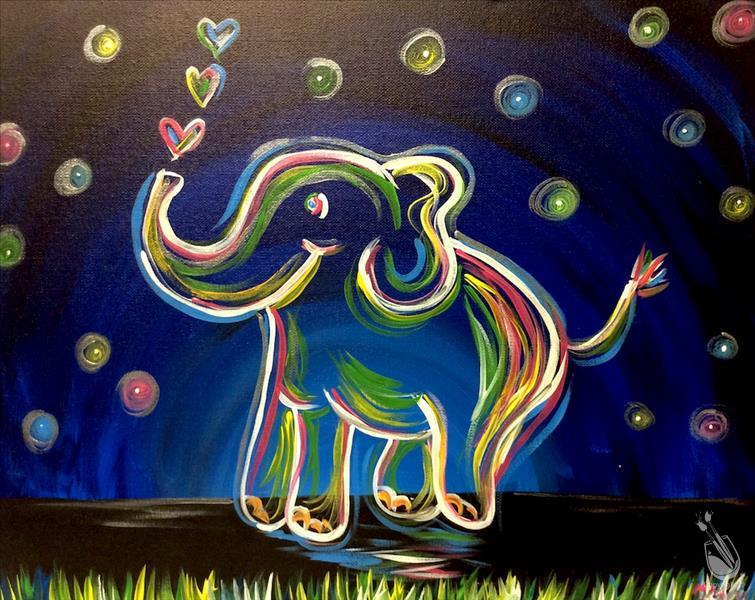 How to Paint Neon Elephant