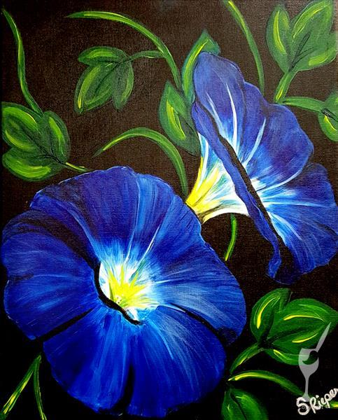 IN STUDIO|Mom's Morning Glories *NEW ART