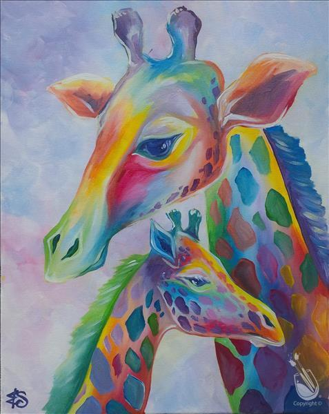 Pastel Giraffes 3hr **LIMITED SEATING**