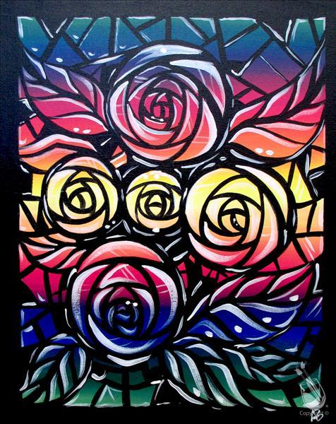 How to Paint Stained Glass Roses