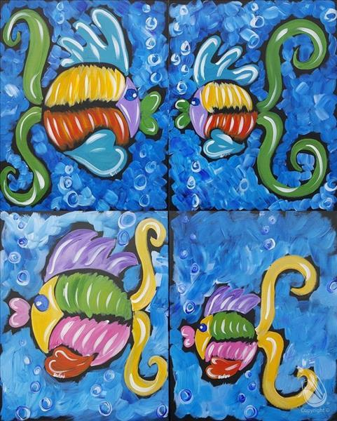 How to Paint *YOUR PICK!* My Fishy Family (Ages 5+)