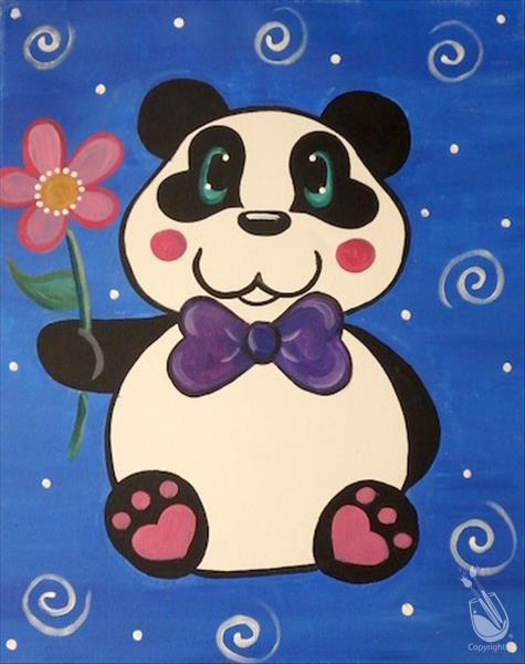 Panda Love All Ages Sunday January 27 2019 Painting With A