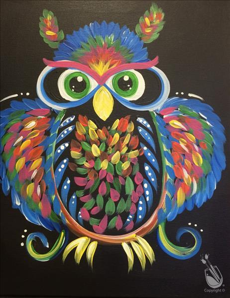 Neon Owl - Pick Your Colors!