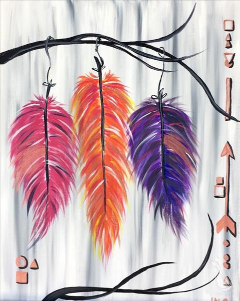 How to Paint 2X PAINT POINTS ~ Bohemian Feathers