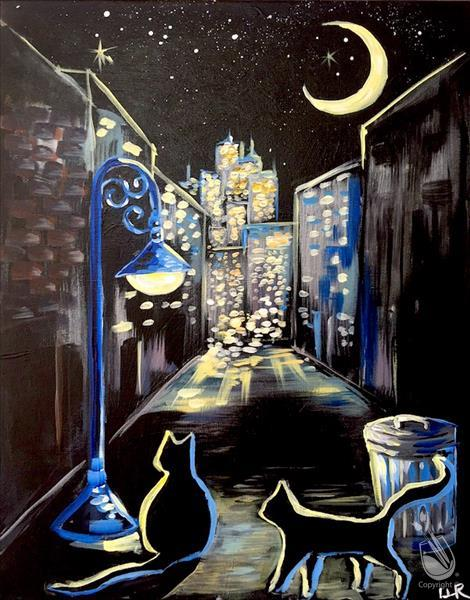 Big City, Little Kitty FUN Sip & Paint