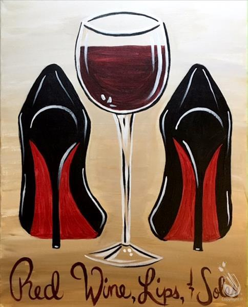 How to Paint Red Wine Lips Soles (Ages 15+)