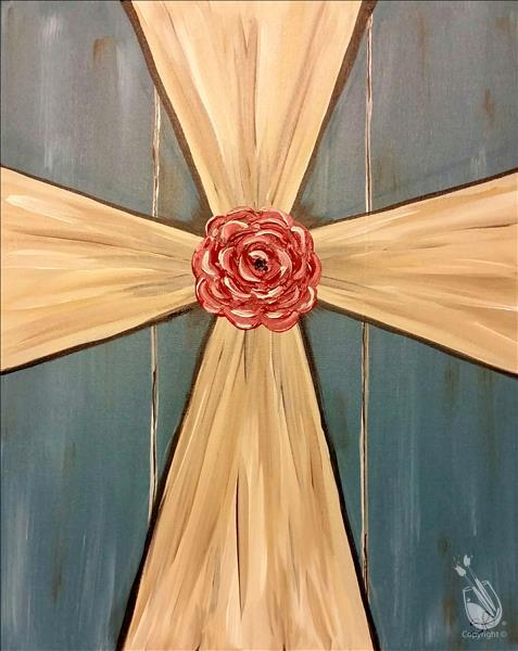Rustic charm cross adults only wednesday march 22 for Painting with a twist alamo ranch