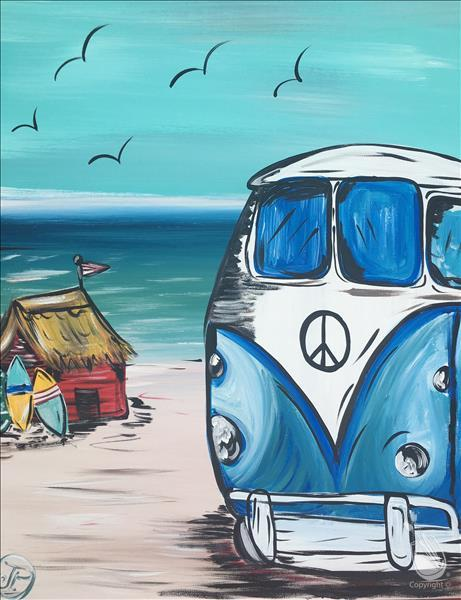 (Afternoon Art) Back to the Beach VW Luv Bug