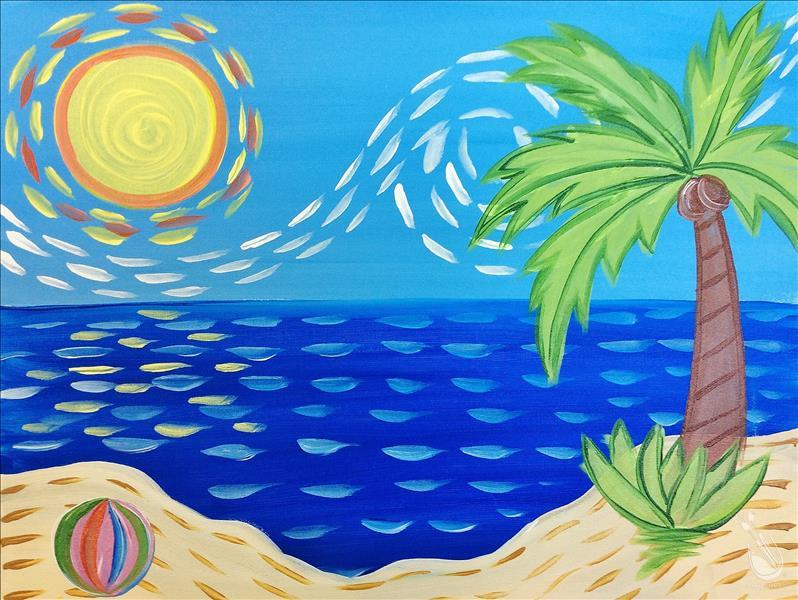 How to Paint After School Art - At the Beach