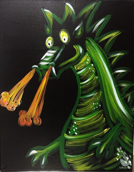 How to Paint Neon Dragon (Ages 5+)