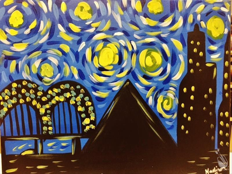 How to Paint Starry Night Over Memphis