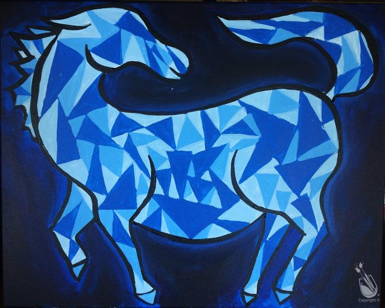 PICASSO'S BLUE HORSE