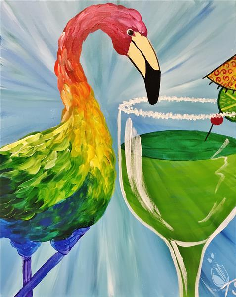 How to Paint Flamingo Happy Hour*