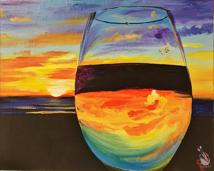 How to Paint Wine at the Beach