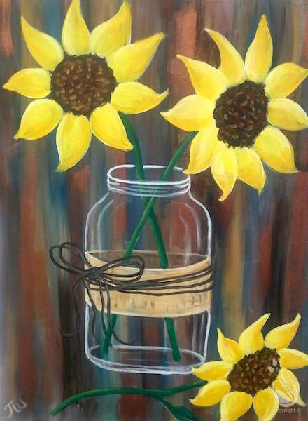 Hand Picked Sunflowers Tuesday March 12 2019 Painting With A