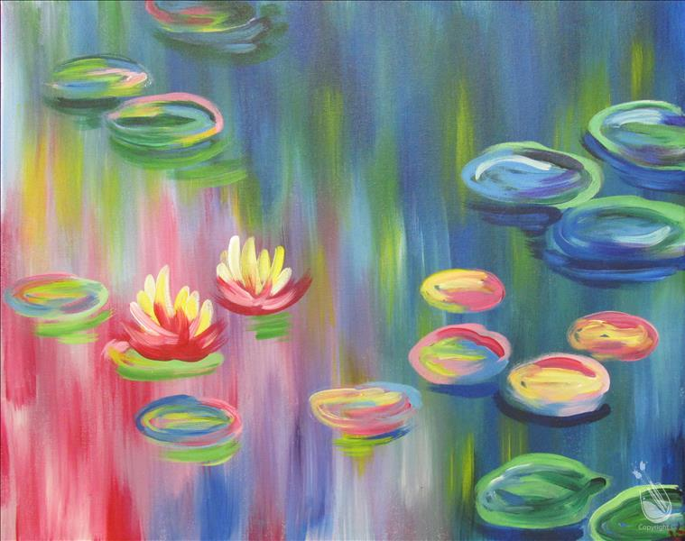 How to Paint Colorful Monet Lilies