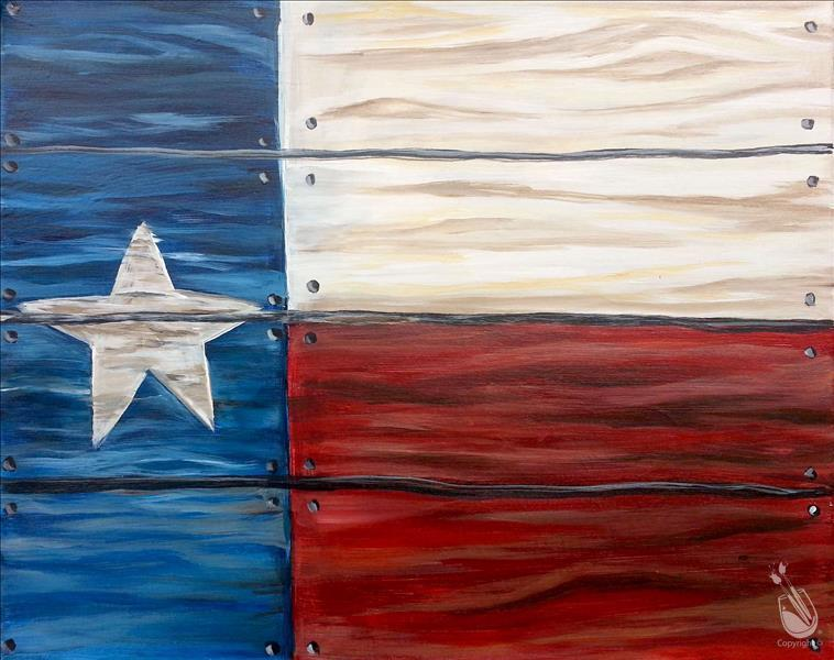 Rustic Texas Flag **LIMITED SEATING**
