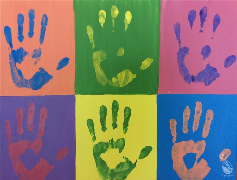 How to Paint Kid's Class:Kids Pop Art Palms