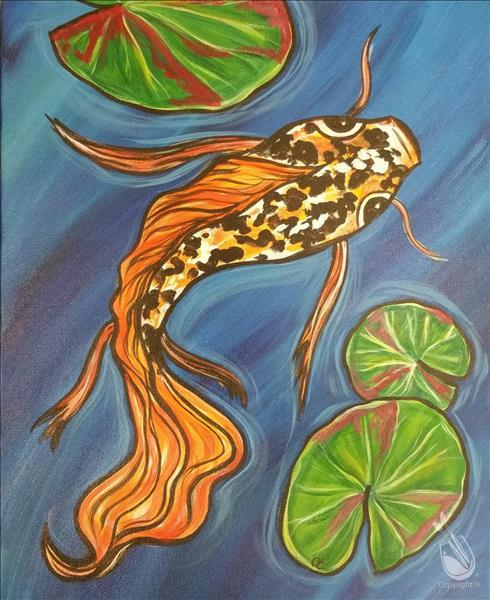 How to Paint Butterfly Koi