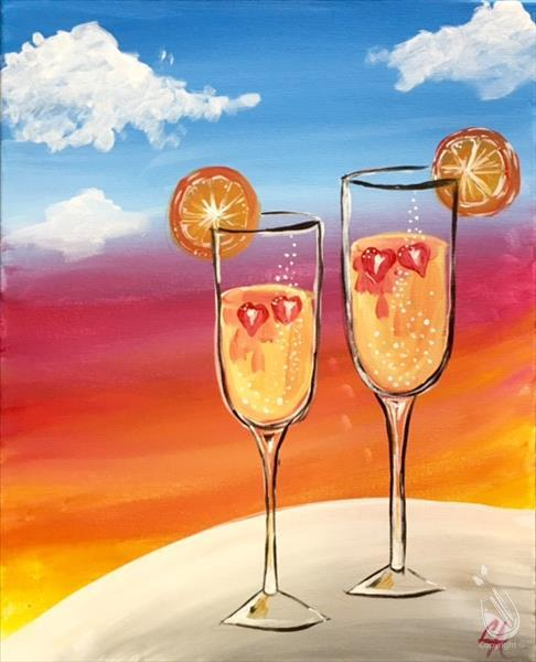 Mimosas in the Morning-Drinks/Canvas! 18+
