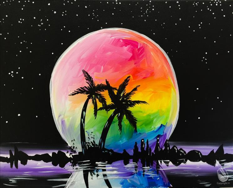 How to Paint Virtual LIVE Friday Night-Moon - Rainbow