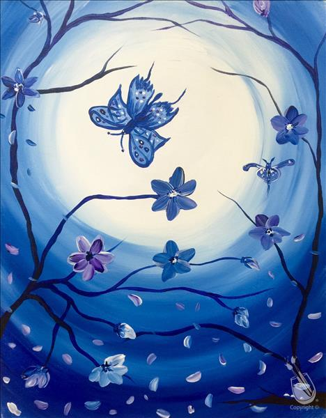 How to Paint Blossoms and Butterflies
