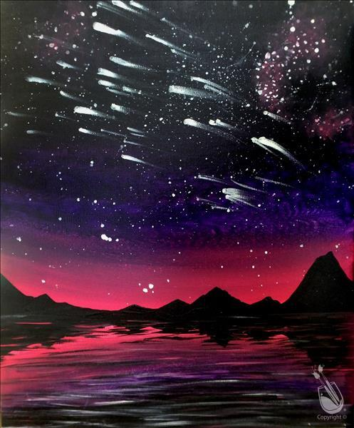 Meteor Shower At Dawn