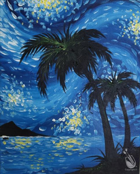 Starry Night Over Pure Shores Live Virtual Class!