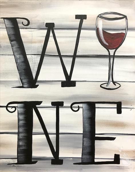 Bring your wine to go with your wine painting!